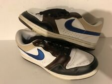 2006 Nike Court Force Low Premium White Military Blue Bison Sz 8.5 (313940-141)