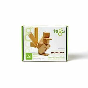 Tegu Discovery Magnetic Wooden Block Set Mahogany 26 Piece