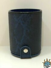 Dragon Dice cup DND dungeons & dragons faux leather board game RPG Blue