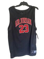 Nike Jordan Dna Men's Size Xl Black Mesh Jersey Tank Cz2499-010 Carolina Blue 23