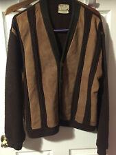 Vintage Sears Dark Brown Suede Sweater Size Large