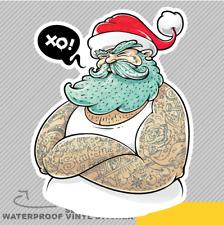 Modern Santa Claus Mafia Fat Tattoo Vinyl Sticker Decal Window Car Van Bike 2129