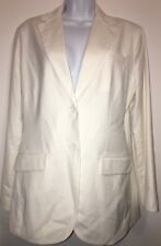 New York & Company City Stretch Luxe White Suit Jacket. Ladies M Medium. NWT