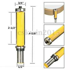 "2-1/2"" Extra Long Straight Router Bit Pattern Flush Trim Dual Bearing 1/2"" Shank"
