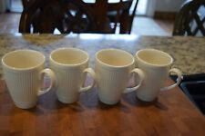 "Wedgwood Windsor Ribbed 4"" Cup/Mug England - Set of 4"