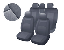 Two-tone Grey Poly Fabric Full Set Car Rear Split Seat Covers for Toyota #8660
