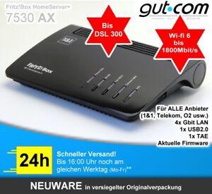 AVM FritzBox 7530 AX VDSL DSL 300Mbit 250 Wifi6 Router Modem für 1&1 Telekom u