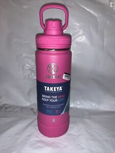 Takeya 18oz Insulated Stainless Steel Water Bottle Super Pink