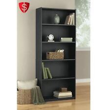 Wooden Bookcase Adjustable Storage Bookshelf Furniture Shelving Home 5 Shelf