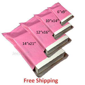 Pink Coloured Mailing Bags Postal Plastic Mailer Postage Self Seal Shipping Bag