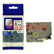 Brother TZ-111 P-Touch Compatible Black on Clear Label Tape 6mm 8m TZ-e111