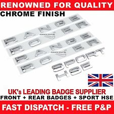 CHROME FULL RANGE ROVER SPORT HSE BADGE LETTERING SET FOR BONNET TAILGATE