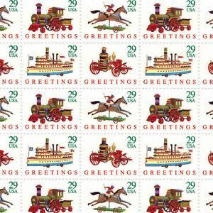 Full mint sheet of 50 #2711-14 CHRISTMAS TOYS Greetings MNH OG perfect
