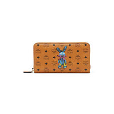 MCM Rabbit Breast Wallet Coated Canvas Material MYL6AXL31CO Cognac Color