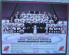 2002-03 N J Devils Stanley Cup Champions Color Photo Heavy Stock Brodeur Stevens