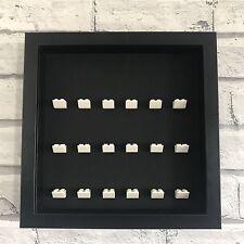 LEGO Mini Figures White Display Case Frame Black Brick Series 17 16 15 14 13 12