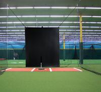 5' x 6'  Heavy Duty Vinyl Baseball Batting Cage Backstop - GBCC™ - BLACK