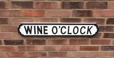 WINE O'CLOCK  Vintage Style Wooden Sign