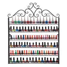 6-Tier Nail Polish Display Rack Wall Mount Stand Organizer Hold 160 Bottles