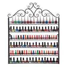 6-Tier Nail Polish Display Rack Wall Mount Stand Organizer Hold 160 Bottles