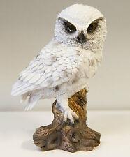 Outdoor Garden Resin Animal Gift Bird Ornament Black White Owl Tree Branch
