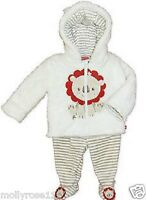 Gorgeous Baby Boy Fisher Price Super Soft White Lion Winter 2 Piece Outfit Set