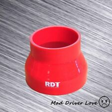 """4"""" TO 3"""" FIBER SILICONE TURBO INTERCOOLER INTAKE PIPING COUPLER REDUCER RED"""