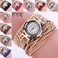 Women Fashion Casual Analog Quartz Rhinestone Watch Women Bracelet Wrist Watch