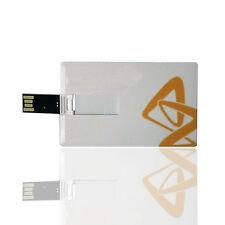 2 GB Ultra Sottile Bianca Carta di credito Stile Flash Memory Stick USB 2.0 ad alta velocità