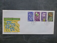 1973 NEW HEBRIDES SET 3 ORCHIDS STAMPS FDC FIRST DAY COVER