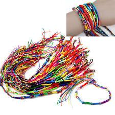 10 pulseras de la amistad, hechas a mano, hilo trenzado multicolor. Pulseras