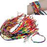 10 braccialetti intrecciati, filo intrecciato multicolore a mano. Orologi / Gioi