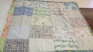 Vintage Handmade Hand Sewn Quilt Blanket