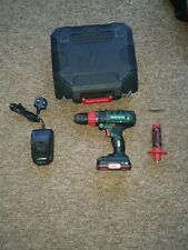 PARKSIDE 20V CORDLESS HAMMER DRILL  WITH CARRY CASE, BATTERY AND CHARGER