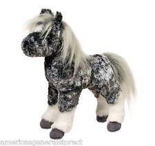 """MAJESTIC GRAY DAPPLE FOAL 10"""" tall STUFFED HORSE plush toy animal by Douglas"""