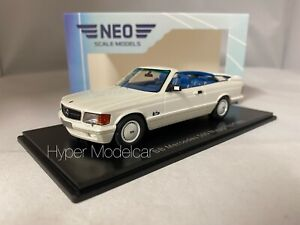 NEO 1/43 MERCEDES S-CLASS 500 CABRIOLET MAGIC TOP BB 1985 WHITE ART.NEO46575