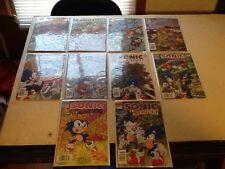 sonic comic book lot