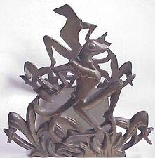 Antique Deco Frog Fish Bowl Holder.