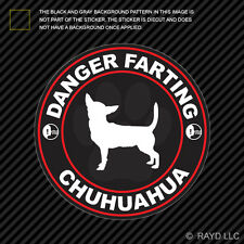Danger Farting Chihuahua Sticker Decal Self Adhesive Vinyl dog canine pet