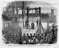 CHAMP FERGUSON HANGED, THE GUERRILLA EXECUTED, AT NASHVILLE, TENNESSEE EXECUTION