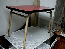 ancienne table en formica vintage design 1960 rouge et metal