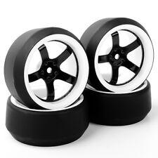 4 X RC Drift Tire PP Tyre Wheel Rims Set Fit HSP HPI 1:10 On-Road Car 6mm Offset