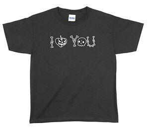 I Love You Halloween Boys Girls Unisex Funny T-Shirt