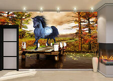 Horse on the Lake Wall Mural Photo Wallpaper GIANT DECOR Paper Poster Free Paste