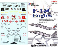 F-15 C Eagle: 110 FS, Cardinals World Series (1/48 decals, Superscale 481218)
