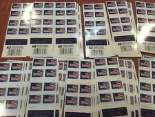40 - US Flag Forever Stamps 2018 - 2 strips of 20 Stamps.
