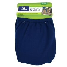 Top Paw Washable Male Dog Wrap Cover-Up Diaper Belly Band Large (45-90 LBS) Blue