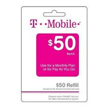 T-Mobile $50 Refill -- Loaded Directly.
