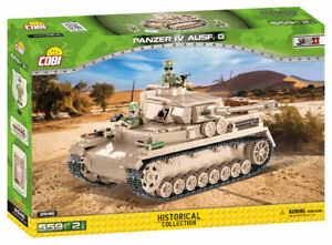 COBI Historical Collection WWII GERMAN PANZER IV AUSF.G 559 Pieces Item #2546