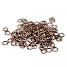 100 anillos de flexión 6mm Abierto Plata Oro Cobre Bronce Negro unión Conector